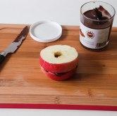 Apfelscheiben mit Schokocreme